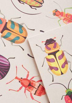 Arthropods and Ends Notecard Set | Mod Retro Vintage Desk Accessories | ModCloth.com