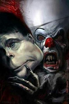 Pennywise taking off his stephen king mask....