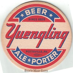 Yuengling Beer Ale Porter Coaster Beer Coasters, Ale, Branding Design, Patches, Ale Beer, Corporate Design, Identity Branding, Brand Design, Ales