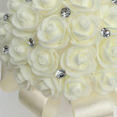 "Wedding Flowers Bouquets Wedding Rhinestone / Foam 11.02""(Approx.28cm) 2020 - US $9.99 Flower Bouquet Wedding, Rose Bouquet, Rhinestone Wedding, Bridal, Baby, Valentines Day Weddings, Bouquet Of Roses, Baby Humor, Infant"