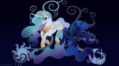 Harmony: Celestia and Luna by SpaceKitty