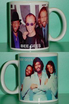 Bee Gees Barry Robin Maurice Gibb 2 Photo Designer Collectible Mug