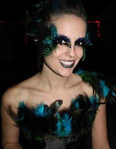 Bird Costume Eye Makeup @defunctFX