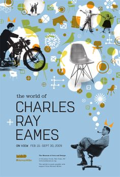 The world of Charles Ray Eames design / typography / illustration by Ed Nacional Web Design, Retro Design, Layout Design, Design Art, Print Design, Cover Design, Illustration Design Graphique, Art Graphique, Photo Illustration