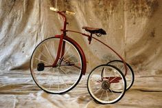 Red Riding  Vintage 40s Tricycle by 86home on Etsy