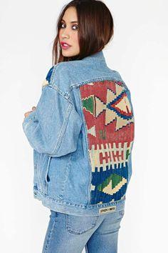 Quest Denim Jacket #aztec