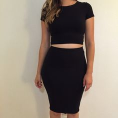 Black Midi Pencil Skirt Beautiful Black Bodycon Midi skirt. Brand new. Never worn. No flaws. 87% polyester, 13% spandex. Available in S & L. Model is wearing a small for reference. 15% discount on all 3+ item bundles made with the bundle feature. No Paypal. No trades. No offers will be considered unless you use the make me an offer feature.     Please follow  Instagram: BossyJoc3y  Blog: www.bossyjocey.com Skirts Midi