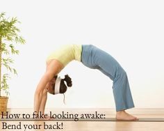 Stretching encourages circulation - try this pose to get your glow on!