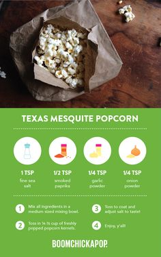 Southern-lovin' Boom for your Boom! Healthy Popcorn, Popcorn Recipes, Sweets Recipes, Just Desserts, Snack Recipes, Healthy Meals, Healthy Recipes, Dairy Free, Gluten Free