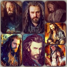 The many faces of Thorin.....richard armitage