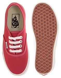 Shop Vans Authentic Classic Red Lace Up Trainers at ASOS. Red Shoes, Lace Up Shoes, Vans Shoes, Me Too Shoes, Van Trainers, Lace Up Trainers, Red Vans, Black Converse, Shoes