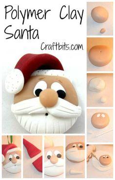 Polymer Clay Santa Head — craftbits.com
