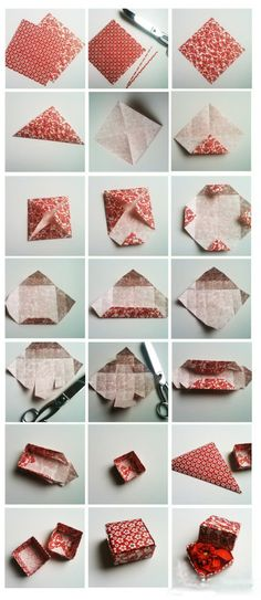 Learn how to make gift boxes the DIY way.includes instructions on how to make gift boxes, how to make origami box, paper box patterns, templates, and much more! Fun Crafts, Diy And Crafts, Arts And Crafts, Gift Crafts, Diy Projects To Try, Craft Projects, Craft Ideas, Diy Ideas, Party Ideas
