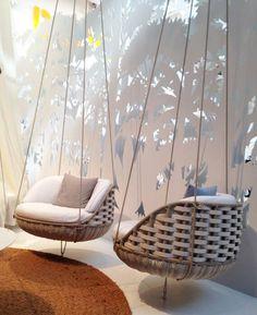 Beautiful hanging chairs