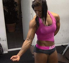 Discover & share this Female Fitness GIF with everyone you know. GIPHY is how you search, share, discover, and create GIFs. Female Muscle Growth, Muscle Building Women, Fitness Models, Female Fitness, Athlete Nutrition, Fitness Motivation, Fitness Gif, Resistance Workout, Workout Videos