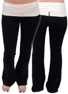 Two-Toned Roll Down Yoga Pant by Hard Tail Hard Tail. $58.00