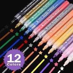 Uni Posca PC-1M12C Paint Marker Pen Extra fine Point  Set of 12