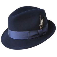 aeff0d5f2f3 Men s Fedora Hat -Tino by Bailey of Hollywood Color Navy    UpscaleMensFashion.com Bailey