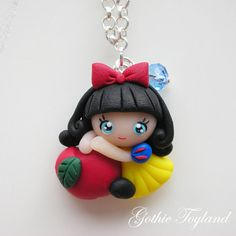 Kawaii Cuties Sweet Snow White Pendant with by GothicToyland, €15,00