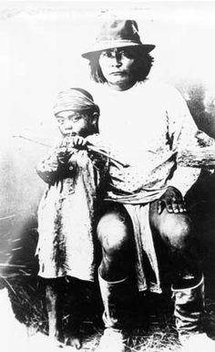 Apache father and son  N.D.  Ryder Ridgway Photographs