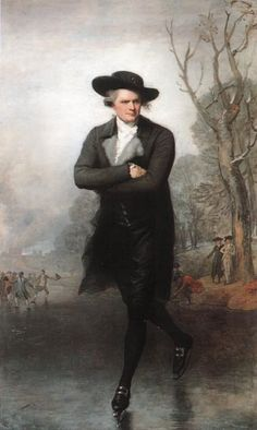 """""""The Skater is a portrait of William Grant by the American artist Gilbert Stuart. Painted while Stuart was living in London, it was the work that first brought the artist broad recognition. National Gallery Of Art, Art Gallery, National Art, Gilbert Stuart, Renaissance, Oil Painting Reproductions, Stretched Canvas Prints, Ice Skating, Figure Skating"""