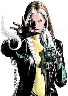 Why do I love Rogue? Because she's a TRULY badass female super hero who isn't a rip off of a male one.