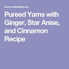 star anise soup with ginger cream recipes dishmaps sweet potato star ...