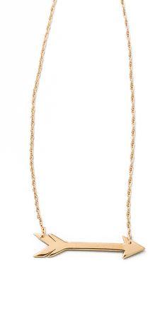 Jennifer Zeuner Jewelry Horizontal Arrow Necklace | SHOPBOP
