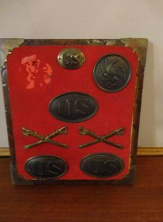 Civil War Confederate Soldiers Breast Plates & Belt Buckles & Cross Swords   by RJCollections, $550.00