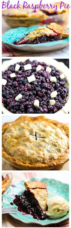 Black raspberries in this luscious black raspberry pie make this a tart and sweet dessert that's super simple to make too. A perfect summer fruit pie Black Raspberry Recipes, Raspberry Desserts, Köstliche Desserts, Delicious Desserts, Yummy Food, Black Raspberry Cobbler, Rasberry Pie, Raspberry Cordial, Raspberry Punch