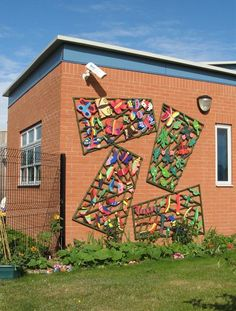 a school project on the life cycle of butterflies, would be nice if you had a big blank wall in your garden