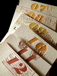 over the rainbow letterpress calendar.  design credit, fabien barral.