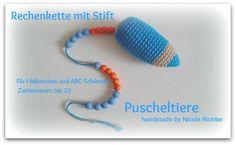 Rechenkette Rechenhilfe Zählkette von Puscheltiere auf DaWanda.com