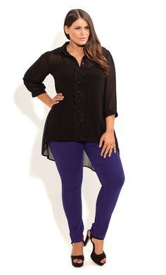 City Chic - MISS VIOLET JEANS - Women's plus size fashion