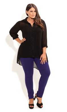 City Chic - MISS VIOLET JEANS - Women's plus size fashion