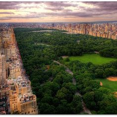 Birds-eye view of Central Park from the Upper West Side
