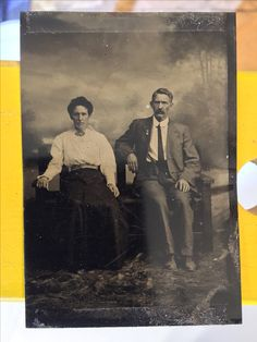 Wyatt Earp and Josie Marcus around the turn of the century. Original image from the collection of P. W. Butler.