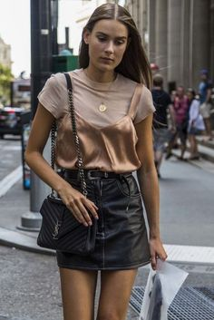 leather skirt elle