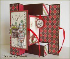 Carte de Noël avec tuto français en images aux dimensions en cm