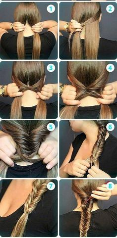 Messy Fishtail Braid Tutorial: Side Loose Braided Hairstyles - Great step by step instructions with photos!: Messy Fishtail Braid Tutorial: Side Loose Braided Hairstyles - Great step by step instructions with photos! No Heat Hairstyles, Girl Hairstyles, Braided Hairstyles, Stylish Hairstyles, Everyday Hairstyles, Winter Hairstyles, Teenage Hairstyles, School Hairstyles, Creative Hairstyles
