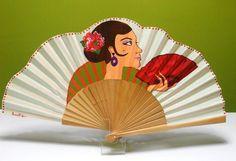 como pintar abanicos con gitanas - Buscar con Google Hand Held Fan, Hand Fan, Pretty Hands, Beautiful Hands, Fan Decoration, Vintage Fans, Art Thou, Craft Tutorials, Art Photography