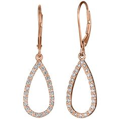 Teardrop Earrings, now available in Rose Gold! #BrilliantEarth  Tear drops for wedding?