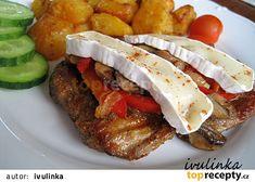 Vepřový plátek s čepičkou recept - TopRecepty.cz Steak, Tacos, Food And Drink, Yummy Food, Beef, Baking, Ethnic Recipes, Cook Books, Author