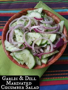 Garlic and Dill Marinated Cucumber Salad   Aunt Bee's Recipes