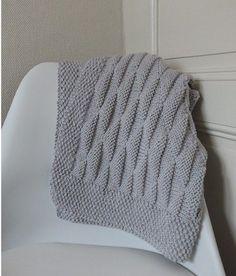 tricoter un plaid adulte couverture laine pinterest b b tricot et crochet et recherche. Black Bedroom Furniture Sets. Home Design Ideas