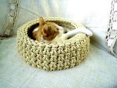 sisal cat basket