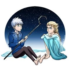Jack Frost and Elsa GIF by lydia-the-hobo on deviantART | Frozen's Elsa and Rise of the Guardians' Jack Frost