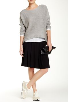 Short Pleated Skirt by Eileen Fisher