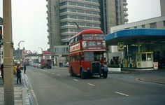 Sutton High Street Sutton Surrey England in the early London Bus, Old London, Back In Time, Back In The Day, Sutton England, Sutton Surrey, Double Decker Bus, London Transport, Old Street