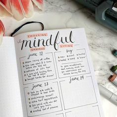 Mindfulness Bullet Journal Layout - Minimalist Printable Version - LindsayBraman.com